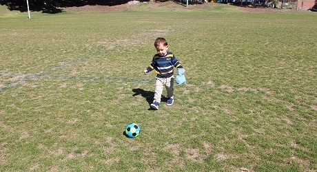 Kid on sportsfield