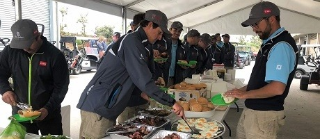 AusGolfOpen2018 Syngenta serves breakfast for greenskeepers