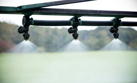 Spray Nozzles on Rigg - closeup