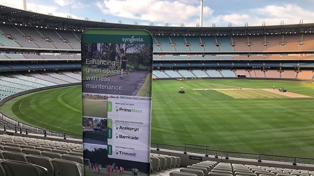 Syngenta Banner at MCG