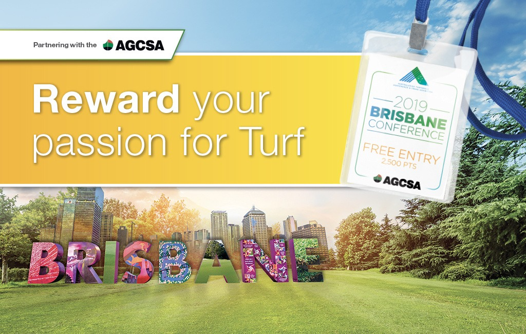 Turf Rewards Brisbane Conference Tag AGCSA