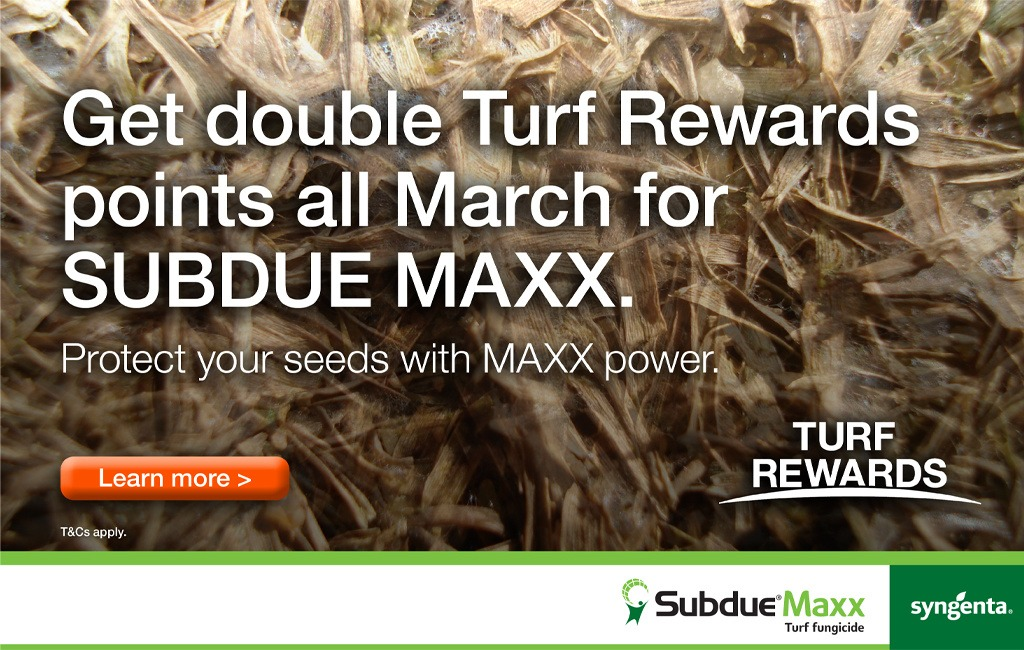 Double Turf Rewards points with Subdue Maxx