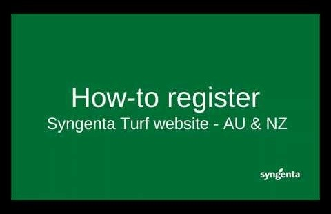 How to register on the Syngenta Turf & Landscape ANZ website